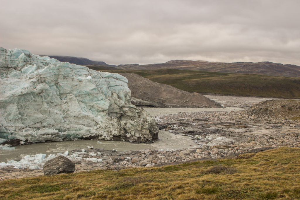 Russel glacier and river flowing out of it