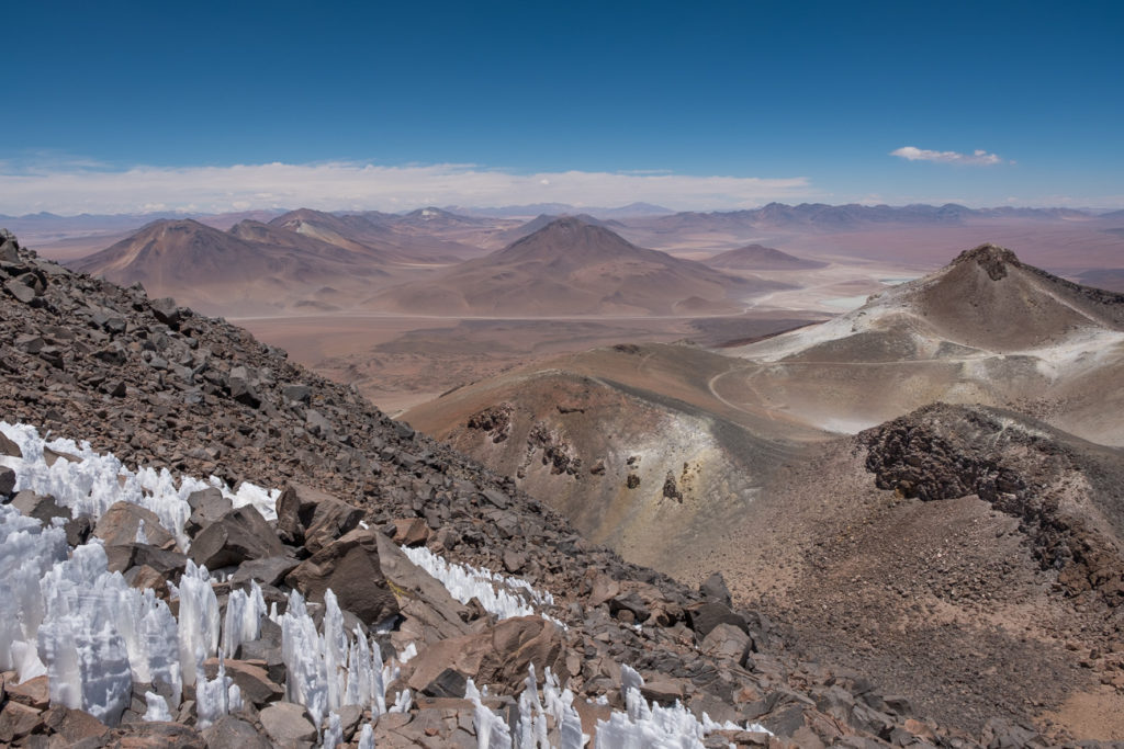 The summit of stratovolcano