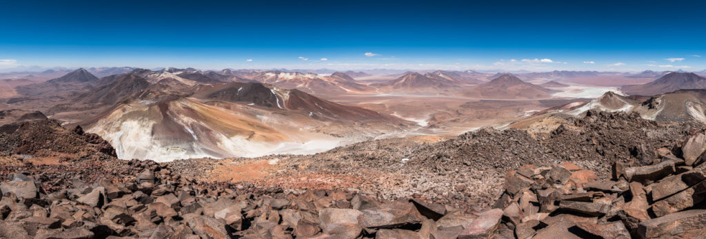 View from the top of stratovolcano Sairecabur