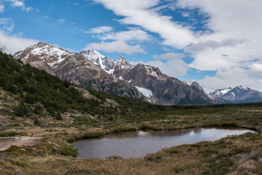 Small lake in Patagonia near to Fitz Roy