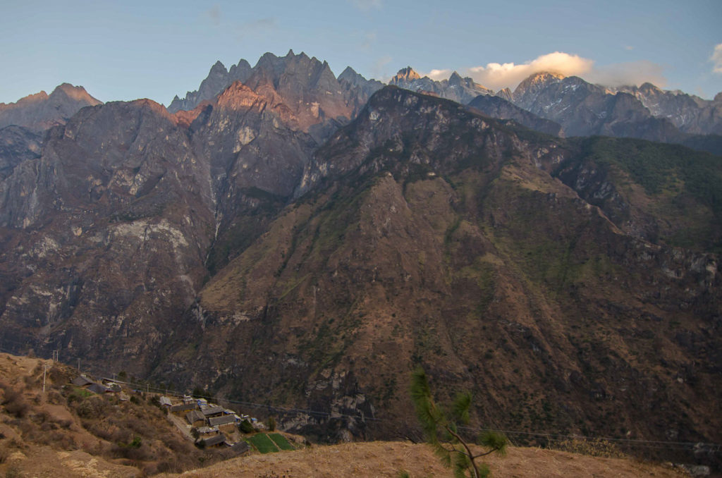 Deep tiger leaping gorge in China