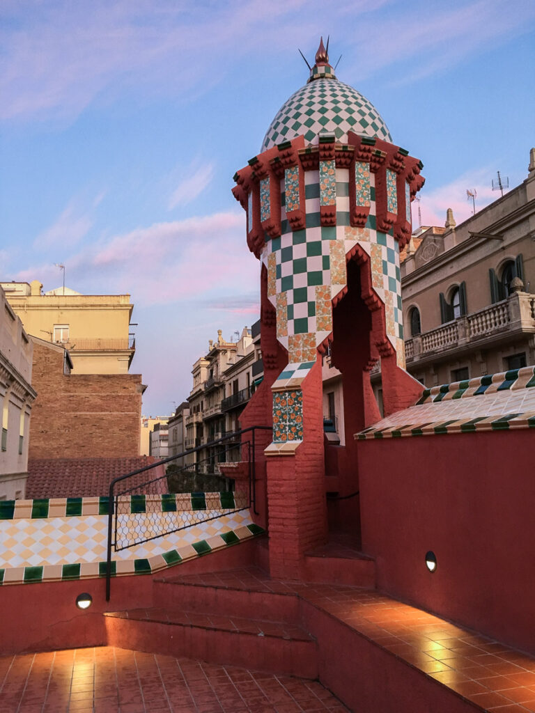 Amazing rooftop of Casa vicens