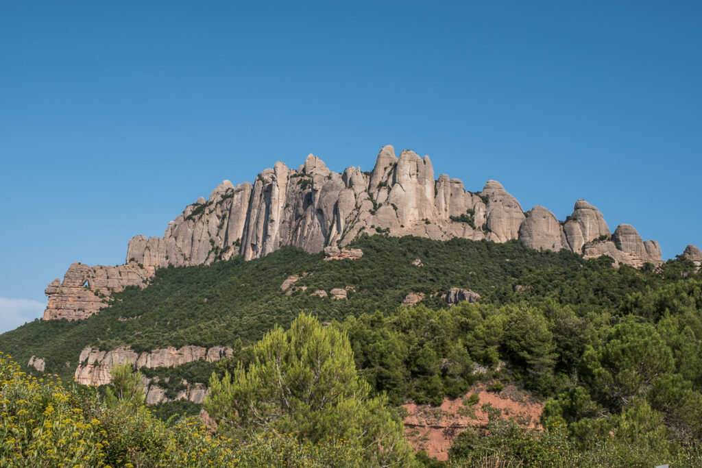The main ridge of the westernpart of the Montserrat rigde during the clear blue sky