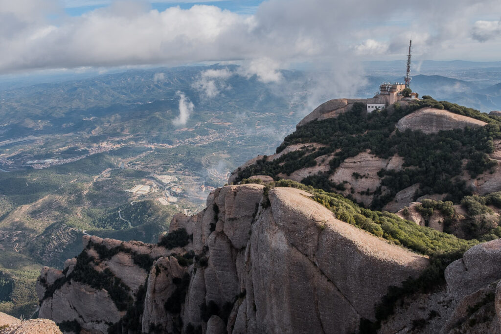 Mount sant Jeroni and the view to the valley