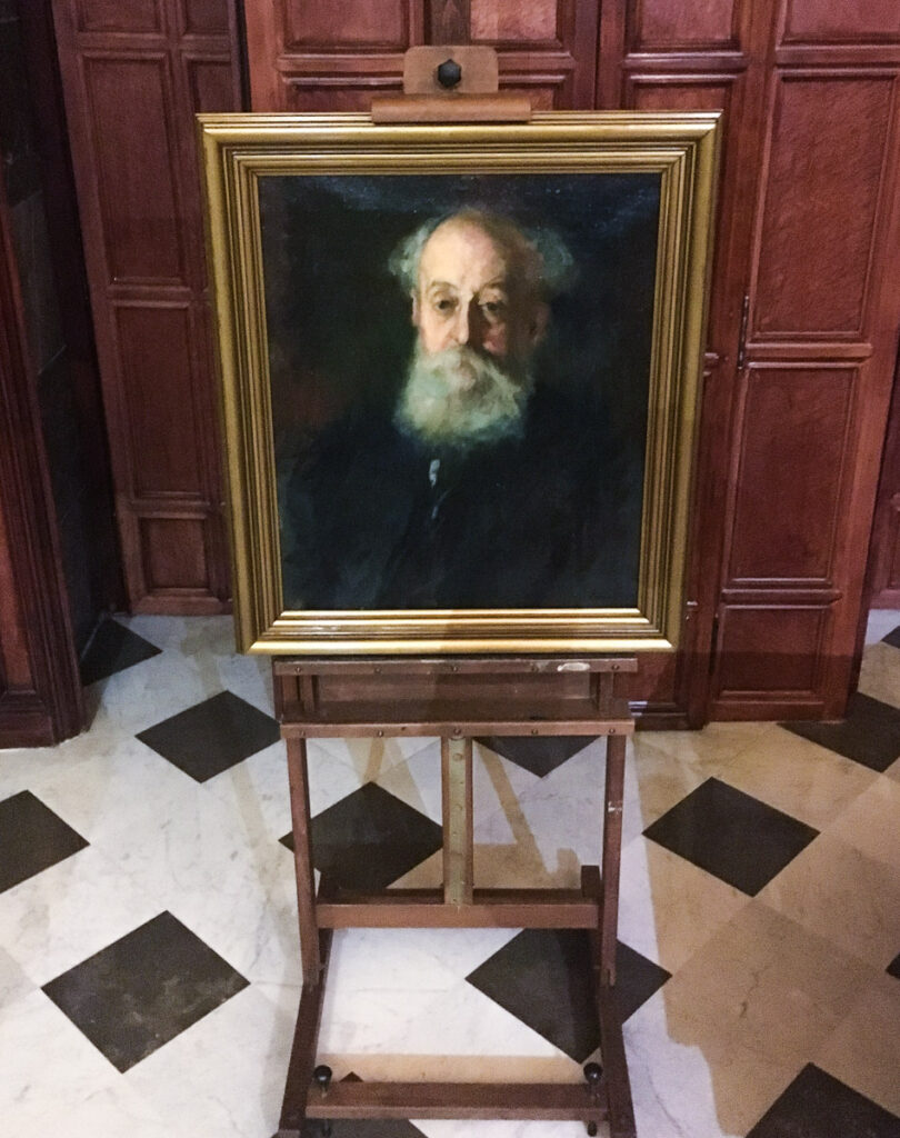 Portrait of Eusebi Guell in Palace Guell