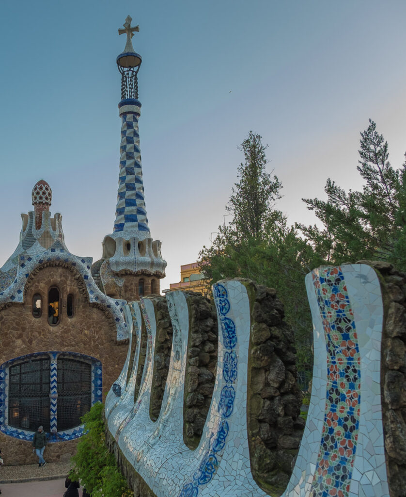 Park Guell detal of the painted house