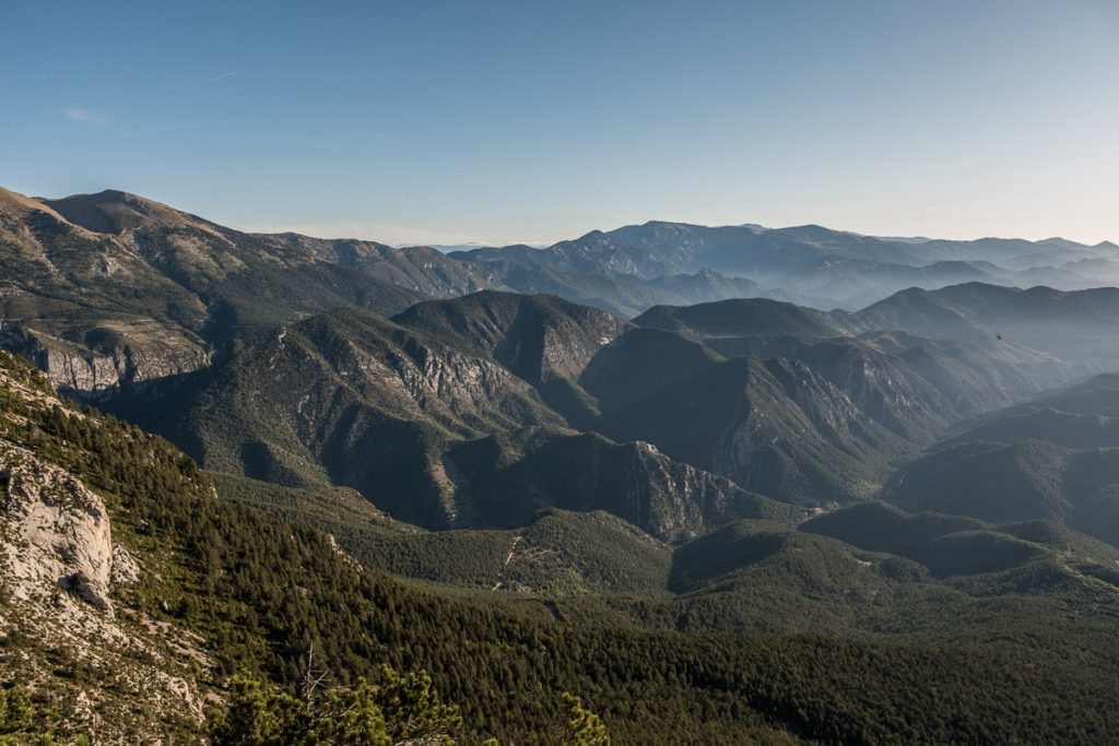 Rugged mountains of spanish Pyrenees