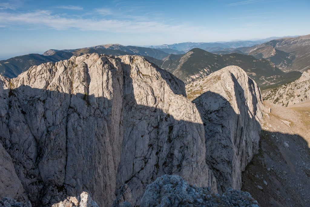 View from the top of the Pedraforca Pollegó Inferior down to the pass
