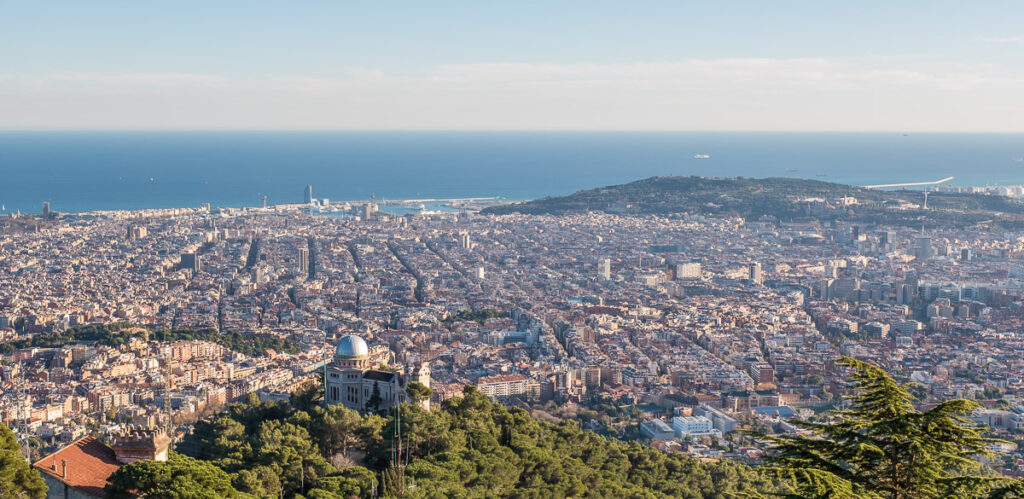 Spectacular views in Barcelona from Tibidabo