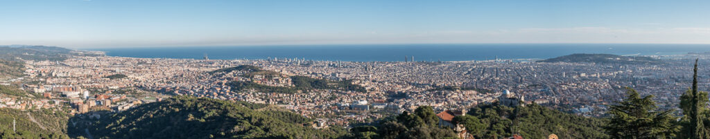 Panoranatic views from El Tibidabo mountain