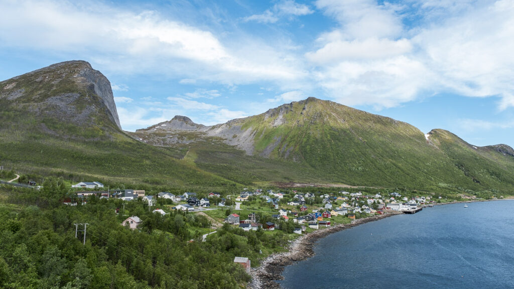 Fjordgard village on senja island is the best starting point for hiking Segla and Hesten