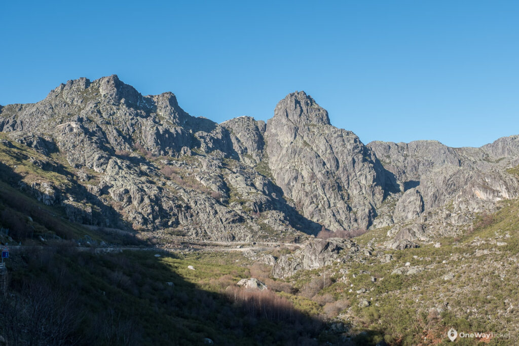 view of the highest and the most wild part of Serra da Estrela and its rocky peak Cantaro Magro