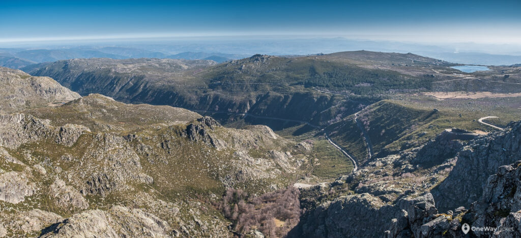 panoramatic view over the deepest valley in Portugal valley of galciers in Serra da Estrela