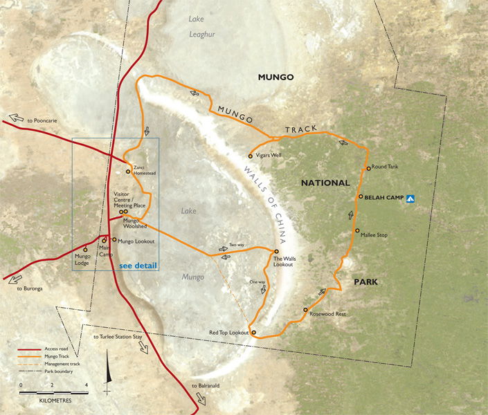 Mungo National Park map graphic